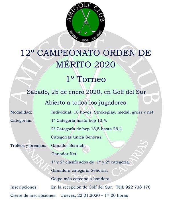 Torneo Orden de Mérito 25.01.20